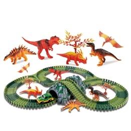 Clixtracks, Dinosauriernas bilbana med 157 delar & 1 bil