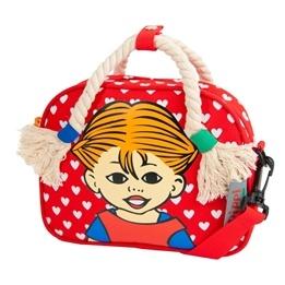 Pippi, Handväska med Flätor Röd