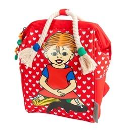 Pippi, Ryggsäck med Flätor Retro Röd