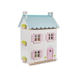 Le Toy Van - Dockhus Blue Bird Cottage möblerat