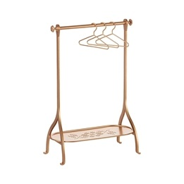 Maileg, Clothes Rack - Gold, incl. 3 hangers