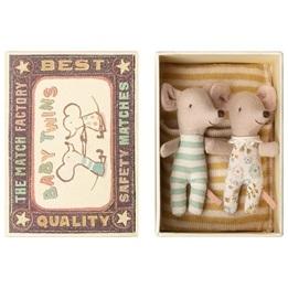 Maileg, Baby mice - Twins pyjamas in box