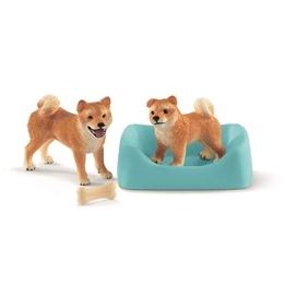 Schleich, Farm World - Shiba Inu Mother And Puppy