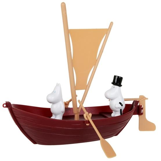 Mumin, Muminpappas segelbåt 2st figurer