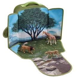 Mojo, Ryggsäck med lekplatta - Vilda djur 3 st