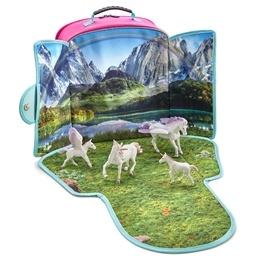 Mojo, Ryggsäck med lekplatta - Fantasi med 4 st fantasidjur