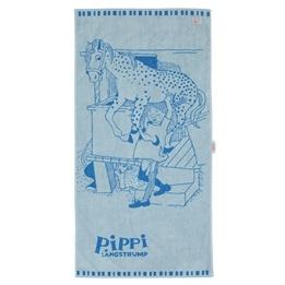 Pippi, Badhandduk Blå 70 x 140 cm