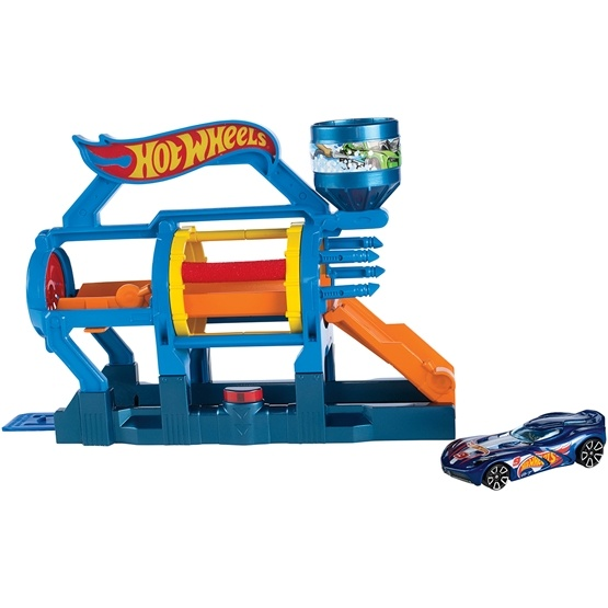 Hot Wheels, Fold out Playset - Turbo Jet Car Wash