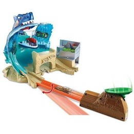 Hot Wheels, City Shark Beach Battle Playset