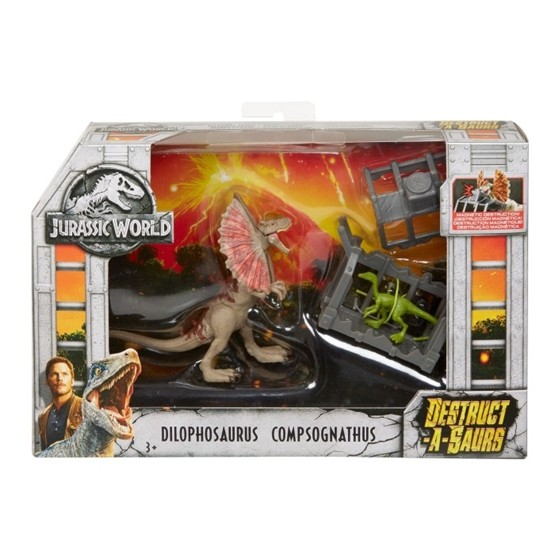 Jurassic World, Destruct-a-Saurs - Dilophosaurus & Compsognathus