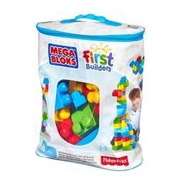 Fisher Price, Mega Bloks 60 st, Blå