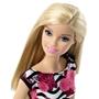 Barbie, Basic Docka, Vit klänning med Rosa blommor