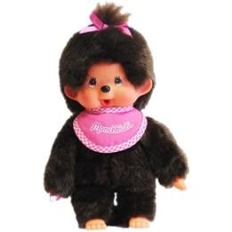 Monchhichi, Flicka med rosa kläder, 20 cm
