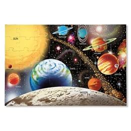 Melissa & Doug, Stort golvpussel, solsystemet, 48 bitar