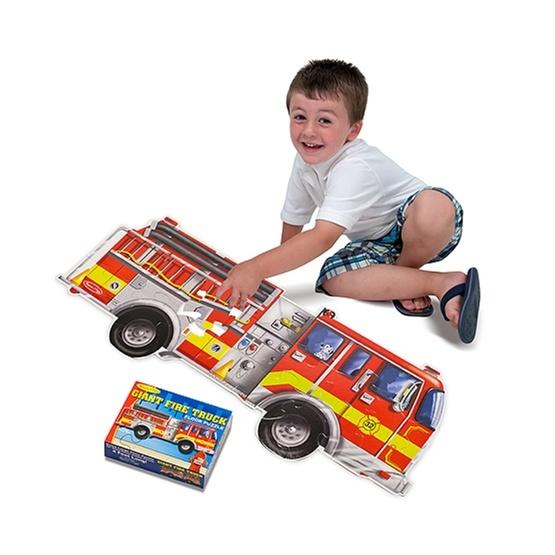 Melissa & Doug, Golvpussel, Gigantisk brandbil, 24 bitar