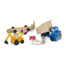 Melissa & Doug, Grävmaskin och dumper i trä