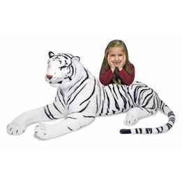 Melissa & Doug, Mjukisdjur - Vit Tiger