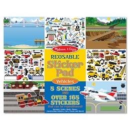 Melissa & Doug, Återanvändbara stickers, Fordon