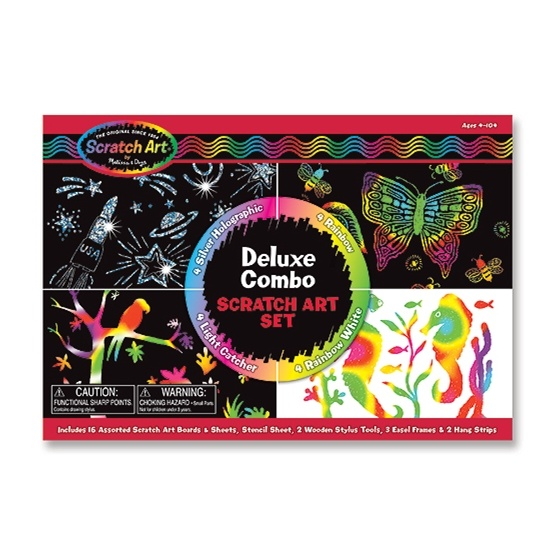 Melissa & Doug, Scratch Art, Deluxe Combo Set
