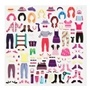 Melissa & Doug, Återanvändbara tjocka stickers, Kläder och accessoarer