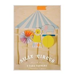Meri Meri Tårtdekorationer (Silly Circus)