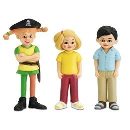 Pippi, Tommy & Annika med Pirat Pippi