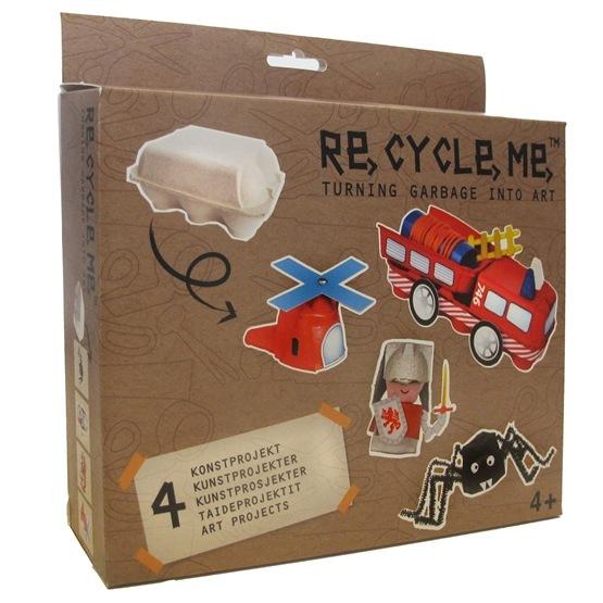Recycle me, Äggkartong 1, 4 st återvinningspyssel