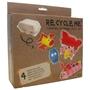 Recycle me, Äggkartong 2, 4 st återvinningspyssel