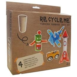 Recycle me, Toalettrullar 1, 4 st återvinningspyssel