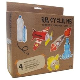 Recycle me, Petflaskor 1, 4 st återvinningspyssel