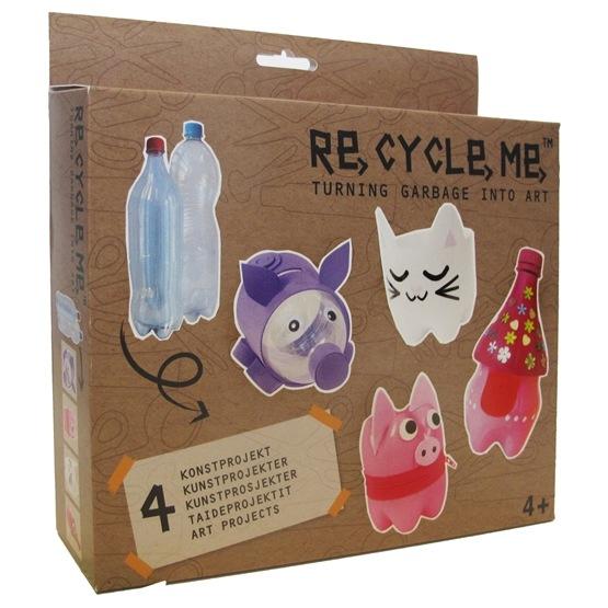 Recycle me, Petflaskor 2, 4 st återvinningspyssel