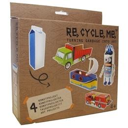 Recycle me, Mjölkförpackningar 1, 4 st återvinningspyssel