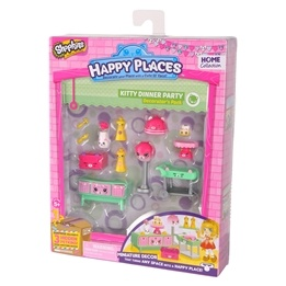 Happy Places, Shopkins S1 - Decorator Pack - Kitty Dinner party