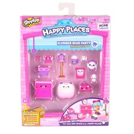Happy Places, Shopkins S1 - Decorator Pack - Slumber bear party