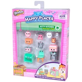 Happy Places, Shopkins S1 - Decorator Pack - Kitty Kitchen