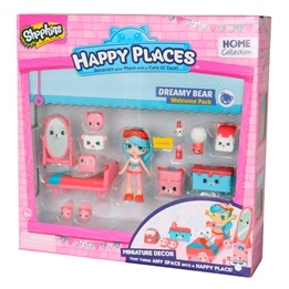 Happy Places, Shopkins S1 - Welcome pack - Dreamy Bear