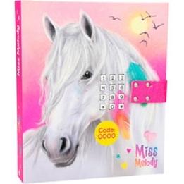 Miss Melody, Dagbok med kod & musik rosa