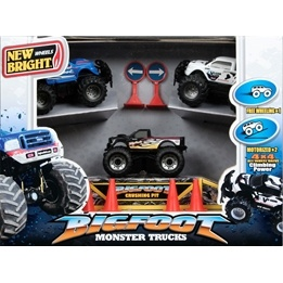 New Bright, 4x4 BigFoot Monster Trucks Playset