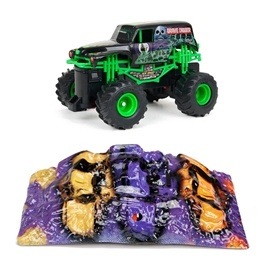 New Bright, Monster Jam, Grave Digger med ramp, 27 Mhz, 1:43