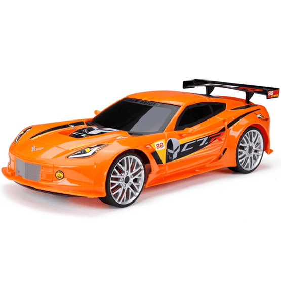 New Bright, 1:12 RC Chargers Corvette Röd