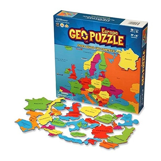 Geo pussel - Europa 58 bitar