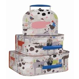 Petit Jour, Förvaringsväskor 3-pack - Bondgårdsdjur