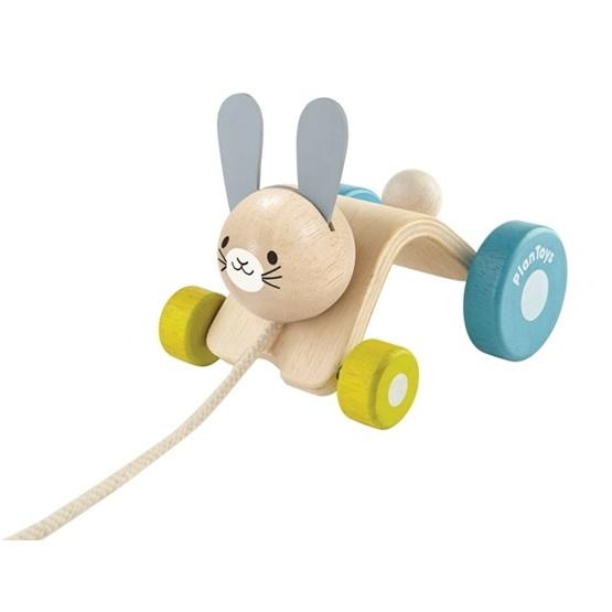 PlanToys, Dragleksak Hoppande Kanin