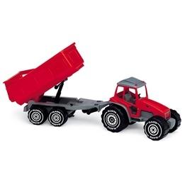 Plasto, Traktor med släpvagn 54 cm, röd