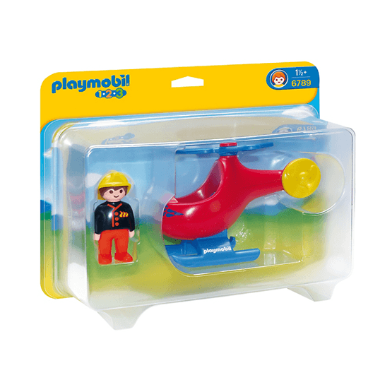 Playmobil, 1.2.3 - Brandhelikopter