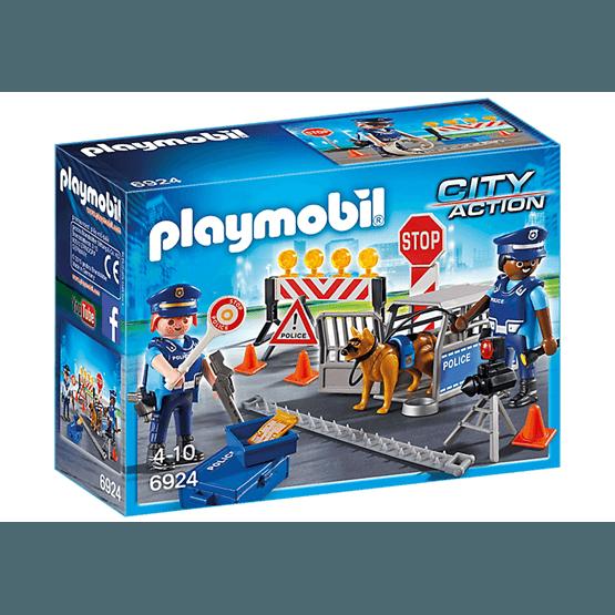 Playmobil City Action 6924, Polisvägspärr