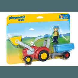 Playmobil 1.2.3 6964, Bonde med traktor och släp