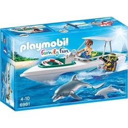 Playmobil Family Fun 6981, Dyktur med snabb motorbåt