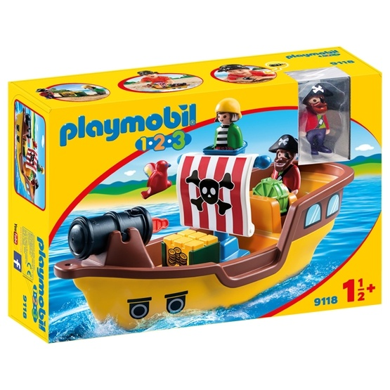 Playmobil 1.2.3 9118, Piratskepp