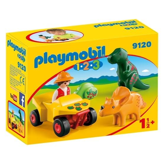Playmobil 1.2.3 9120, Upptäckare med dinosaurier